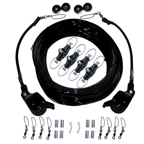 Rupp Double Rigging Kit w\/Lok-Ups & Nok-Outs - 260' Black Mono
