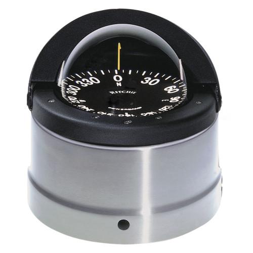 Ritchie DNP-200 Navigator Compass - Binnacle Mount - Polished Stainless Steel\/Black