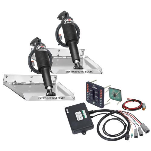 """Lenco 18"""" x 14"""" Standard Performance Trim Tab Kit w\/LED Indicator Switch Kit 12V"""