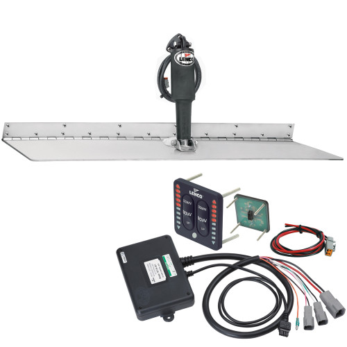 """Lenco 12"""" x 30"""" Super Strong Trim Tab Kit w\/LED Indicator Switch Kit 12V"""