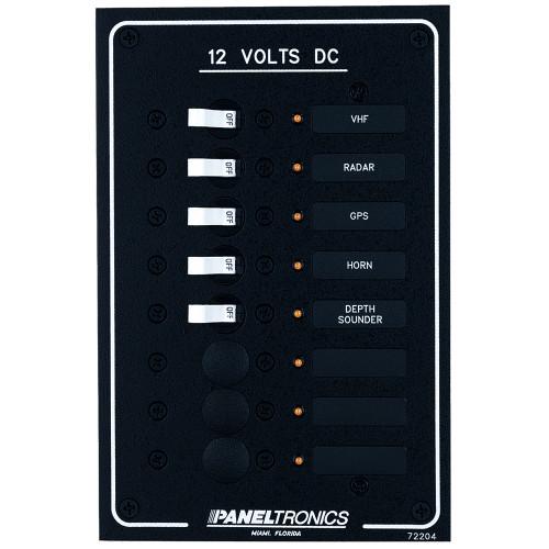 Paneltronics Standard DC 8 Position Breaker Panel w\/LEDs
