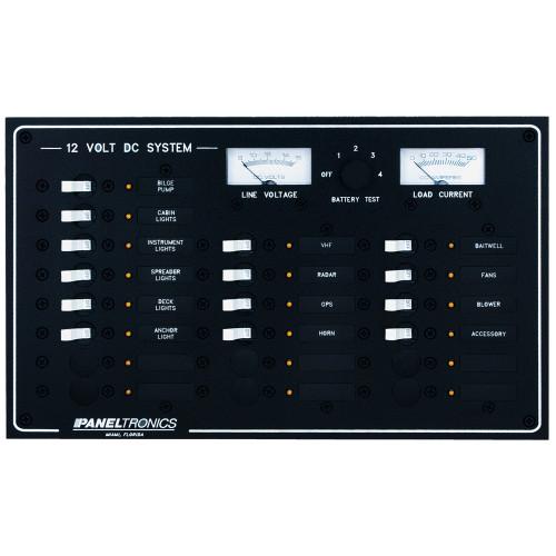 Paneltronics Standard DC 20 Position Breaker Panel & Meter
