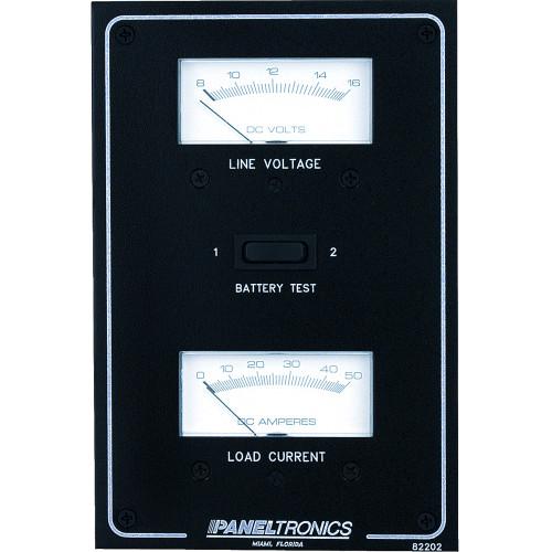 Paneltronics Standard DC Meter Panel w\/Voltmeter & Ammeter
