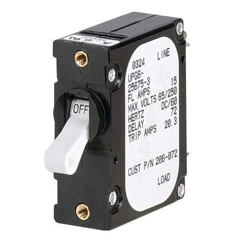 Paneltronics 'A' Frame Magnetic Circuit Breaker - 5 Amps - Single Pole