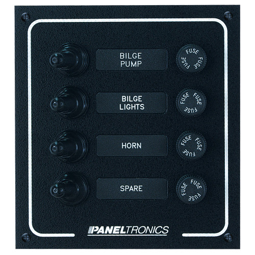 Paneltronics Waterproof DC 4 Position Booted Toggle & Fuse