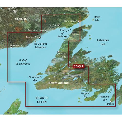 Garmin BlueChart g2 Vision- VCA008R - Newfoundland West - SD Card