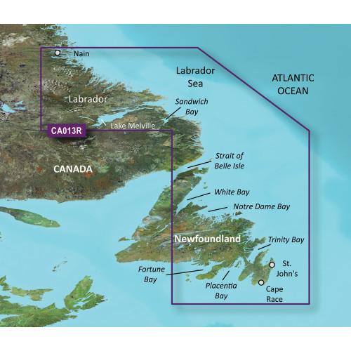 Garmin BlueChart g2 Vision- VCA013R - Labrador Coast - SD Card
