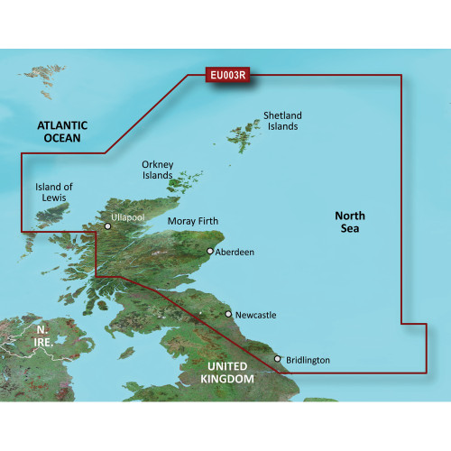 Garmin BlueChart g2 Vision - VEU003R - Great Britain, Northeast Coast - SD Card