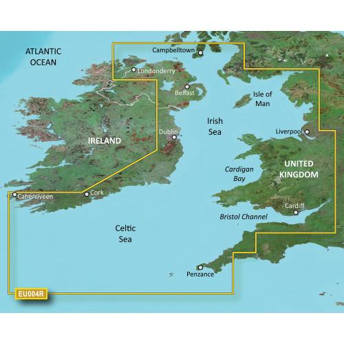 Garmin BlueChart g2 Vision - VEU004R - Irish Sea - SD Card