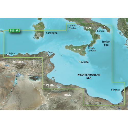 Garmin BlueChart g2 Vision - VEU013R - Italy Southwest & Tunisia - SD Card