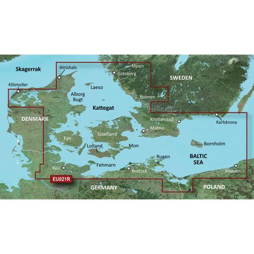 Garmin BlueChart g2 Vision - VEU021R - Denmark East & Sweden Southeast - SD Card