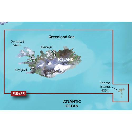 Garmin BlueChart g3 Vision HD - VEU043R - Iceland  Faeroe Islands - microSD\/SD