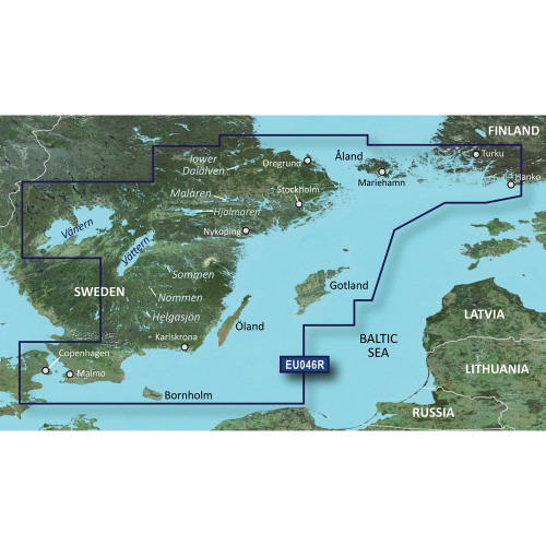 Garmin BlueChart g2 Vision - VEU046R - regrund, land to Malm - SD Card