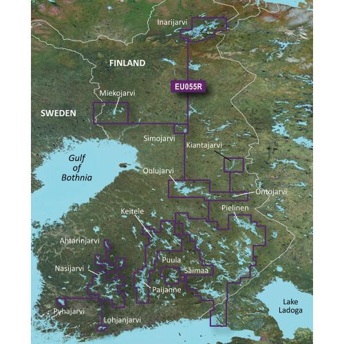 Garmin BlueChart g2 Vision - VEU055R - Finnish Lakes - SD Card
