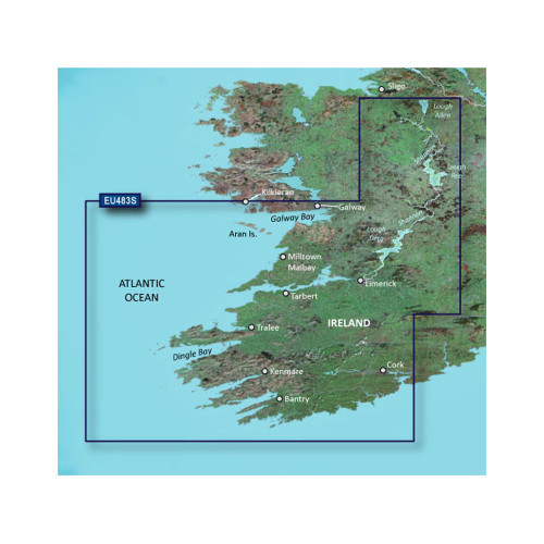 Garmin BlueChart g2 Vision - VEU483S - Galway Bay to Cork - SD Card