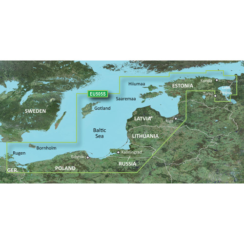 Garmin BlueChart g2 Vision - VEU505S - Baltic Sea, East Coast - SD Card