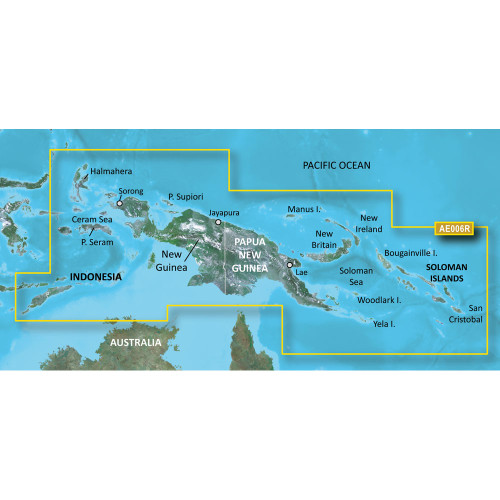 Garmin BlueChart g2 Vision - VAE006R - Timor Leste\/New Guinea - microSD\/SD