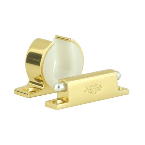 Lee's Rod and Reel Hanger Set - Penn International 80W - Bright Gold