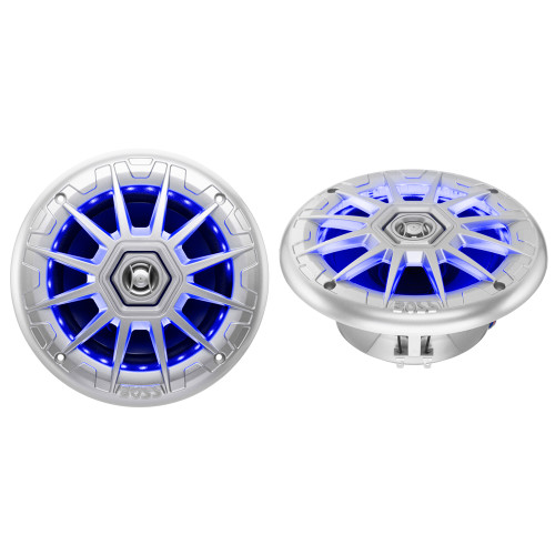 "Boss Audio MRGB65S 6.5"" 2-Way Coaxial Marine Speakers w\/RGB LED Lights"