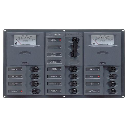 BEP AC Circuit Breaker Panel w\/Analog Meters, 2SP 1DP AC120V