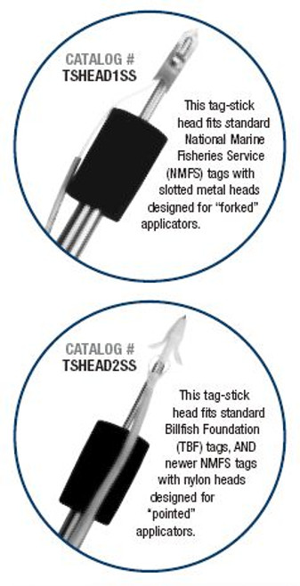Aftco Tag Stick Head - Pointed
