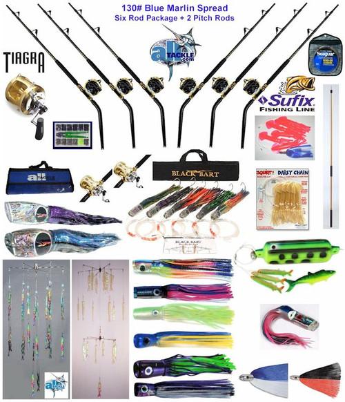 Alltackle Blue Marlin 130# Trolling Spread Package w/ Shimano Rods & Reels