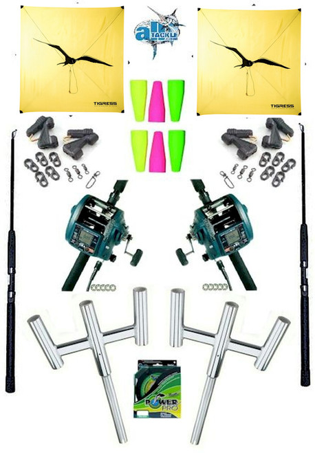 Alltackle Kite Kit w/ Dual Miya Epoch Electric Reels and Kite Combos