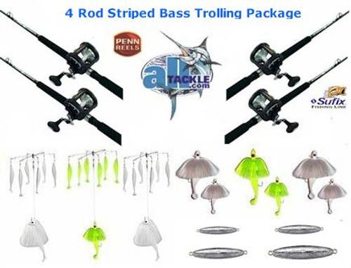 Alltackle Striped Bass 4 Rod Trolling Package