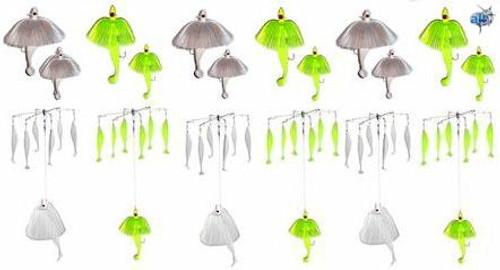 Alltackle Striper Umbrella and Tandem 12 Lure Kit
