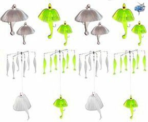 Alltackle Striper Umbrella and Tandem 8 Lure Kit