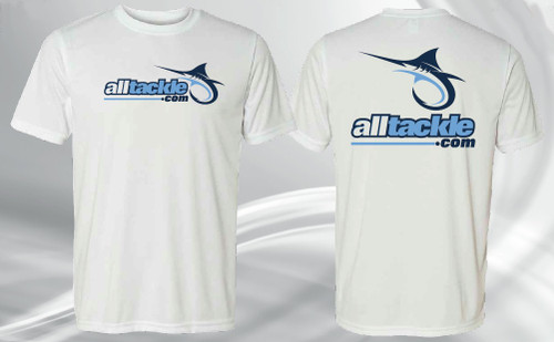 Alltackle T-Shirt White Adult 2XL 2 Extra Large