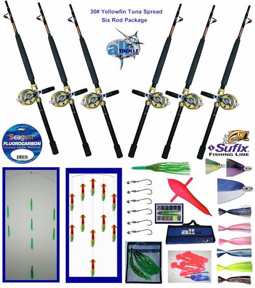 Alltackle Yellowfin Tuna 30# Trolling Package w/ Rods/Reels