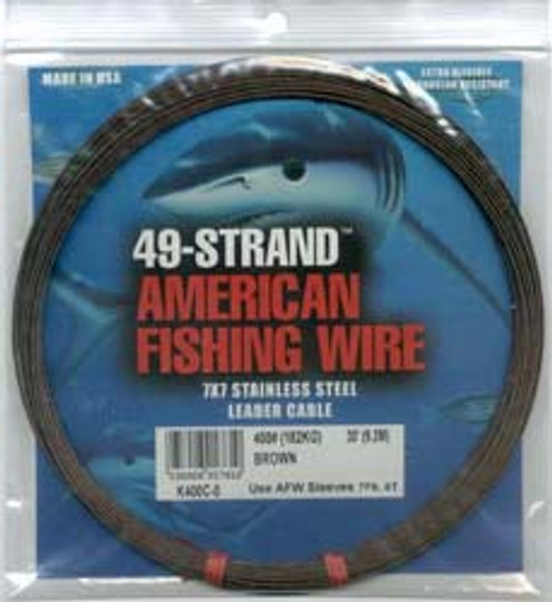 American Fishing Wire 49 Strand Camo Brown 500ftTest: 800