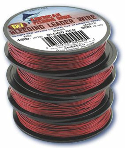 American Fishing Wire Bleeding Leader 1000ftRed Test:90