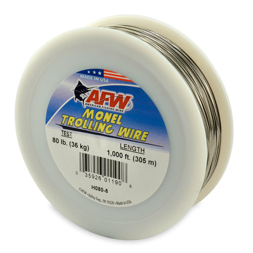 American Fishing Wire Monel Trolling Wire 1000ftSpool Test: 80