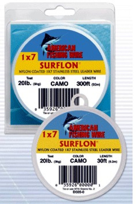 American Fishing Wire Surflon 300ftCamo Brown Test:30