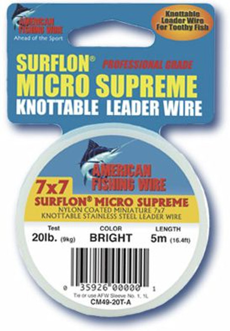 American Fishing Wire Surflon Micro Supreme 5 Meters Bright Test: 20