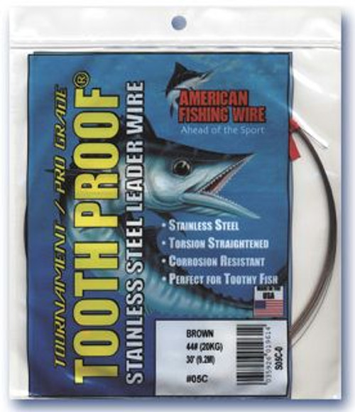 American Fishing Wire Tooth Proof Camo Brown 1/4 lb Coil # 22