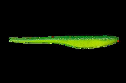 Bass Kandy Delight - 6 inch - 25 Pack - 2-Tone Green Glitter