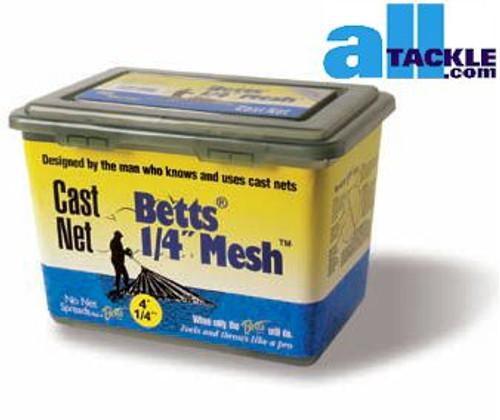 Betts #25 Cast Net 1/4 inch 5 ft