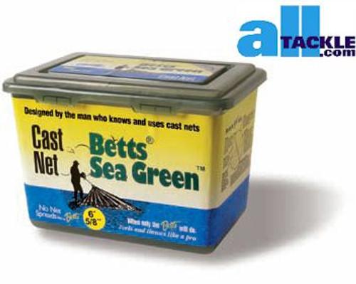 Betts Sea Green Cast Net 5/8 inch 6ft