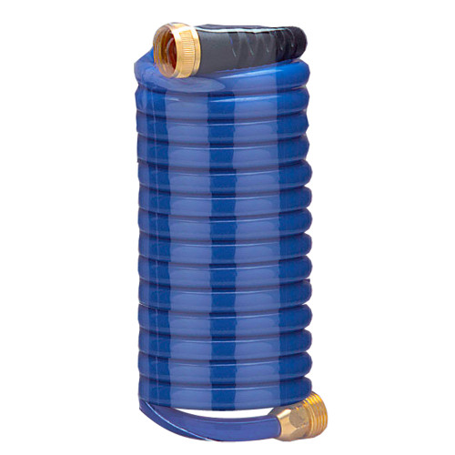 HoseCoil 15' Blue Self Coiling Hose w\/Flex Relief