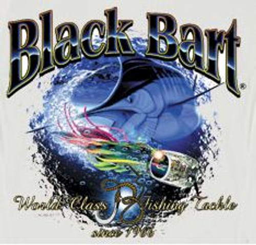 Black Bart T-Shirt Marlin Lure Medium