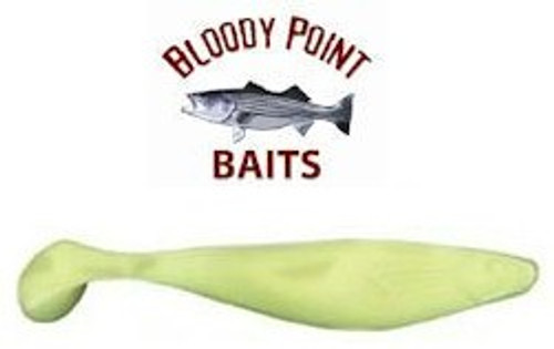 Bloody Point Shads 6 inch Chartreuse 25 Pack