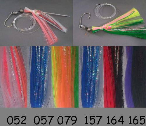Blue Water Candy 8/0 Ballyhoo Rig - green/char/pink