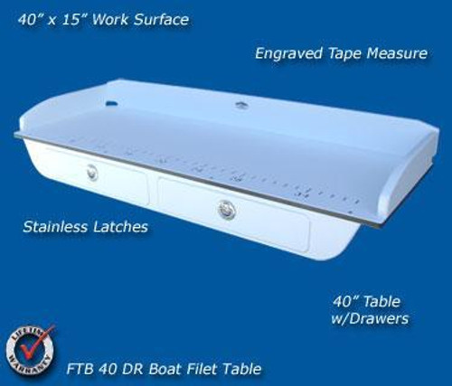 Deep Blue Marine Boat Filet Board w/ Drawers (DBM-FTB-40-DR)