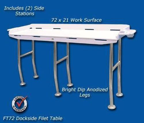Deep Blue Marine Dockside Fillet Table 72 x 21