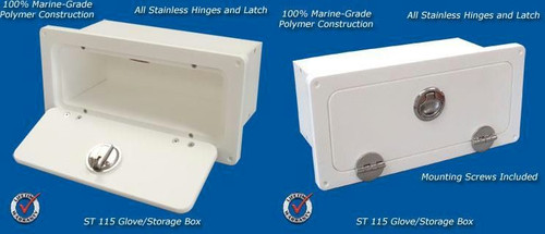 Deep Blue Marine Glove Box Small Locking - 2-4 weeks lead time