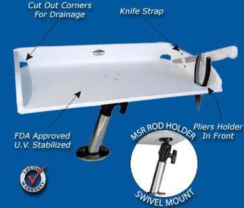 Deep Blue Marine Multi System Small Bait Table Kit w/ Base 21x 12