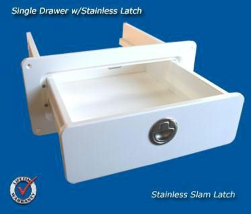 Deep Blue Marine Single Drawer White -